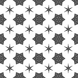 Creative Ornamental Seamless Black Pattern