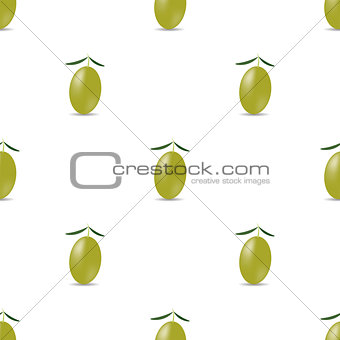 Green Olives Seamless Pattern
