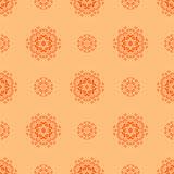 Creative Ornamental Seamless Orange Pattern