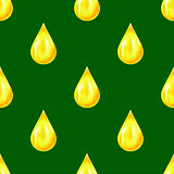 Yellow Drops Seamless Pattern