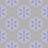 Creative Ornamental Mosaic Seamless Grey Pattern