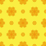 Creative Ornamental Seamless Yellow Pattern