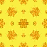 Creative Ornamental Seamless Yellow Pattern