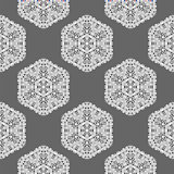 Creative Ornamental Mosaic Seamless Grey Pattern