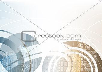 Abstract Illustration of Urban Scene