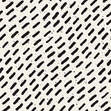 Vector Seamless Black And White Hand Drawn Diagonal Lines Grungy Pattern
