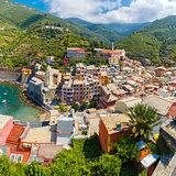 Panorama of Vernazza, Cinque Terre, Liguria, Italy