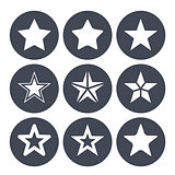 Simple star ions for rating bar