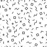 Vector mosaic memphis seamless pattern.