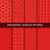 Collection of luxury seamless ornamental patterns.