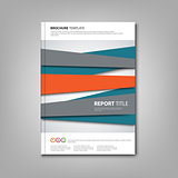 Brochures book or flyer with abstract design stripes
