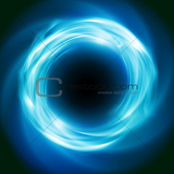 Cosmic vector background with blue glowing vortex