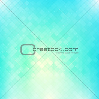 Bright blue square mosaic vector background