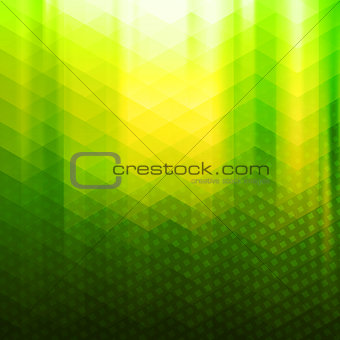 Green-yellow color polygonal vector background
