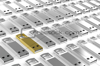 Group of usb sticks