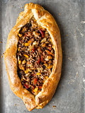 rustic golden turkish pide bread pizza