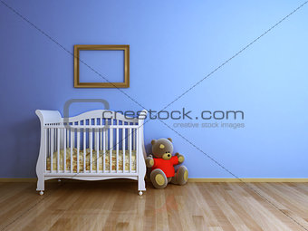 Baby room blue