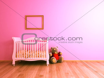Baby room pink