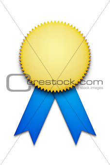 blank award ribbon badge