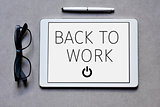 text back to work in a tablet computer