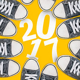 Happy new 2017, sneakers from above