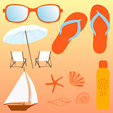 Beach set, items for a holiday