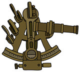 Historic brass sextant