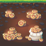 Set coins of Feed the fox GUI match 3
