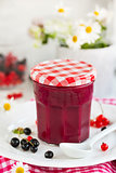 Homemade black currant curd (jam)