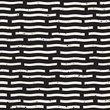 Vector Seamless Hand Drawn Horizontal Lines Grungy Pattern