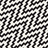 Vector Seamless ZigZag Rounded Diagonal Lines Geometric Pattern
