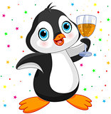 Penguin Celebrating