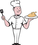 Chef Cook Roast Chicken Spatula Cartoon