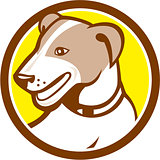 Jack Russell Terrier Head Circle Cartoon