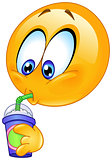 Drinking soda emoticon