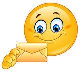 Emoticon with envelope