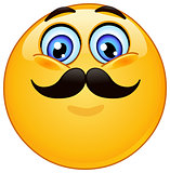 Emoticon with mustache