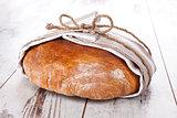 Delicious round bread loaf.