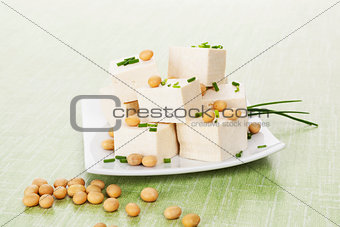 Tofu and soybeans.