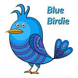 Blue Funny Bird