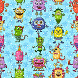 Christmas Monsters Seamless