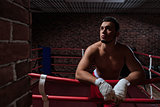 Man in boxing ring