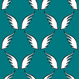 Angel white wings sketch pattern
