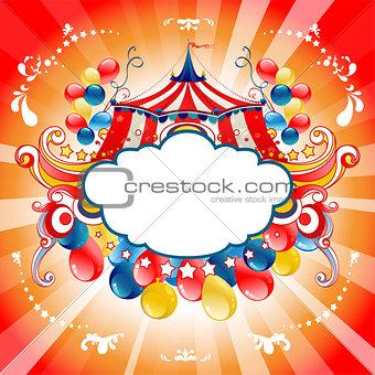 Bright circus card