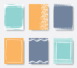 Beautiful vector journal card frames