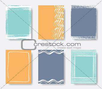 Beautiful vector journal card frames