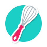 Colorful vector whisk icon