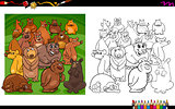 bear characters coloring book