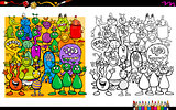 alien characters coloring book