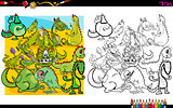 dragon characters coloring book